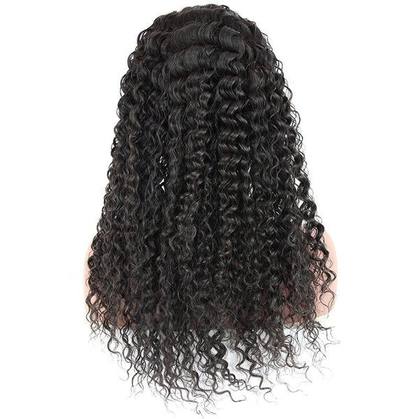 Pre Plucked Loose Curly 360 Lace Frontal Wig4