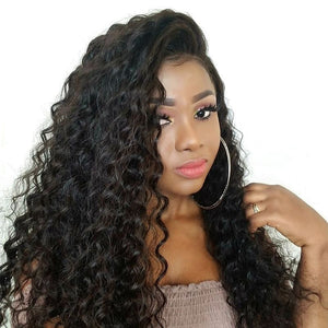 Pre Plucked Loose Curly Full Lace Wig Human Hair1