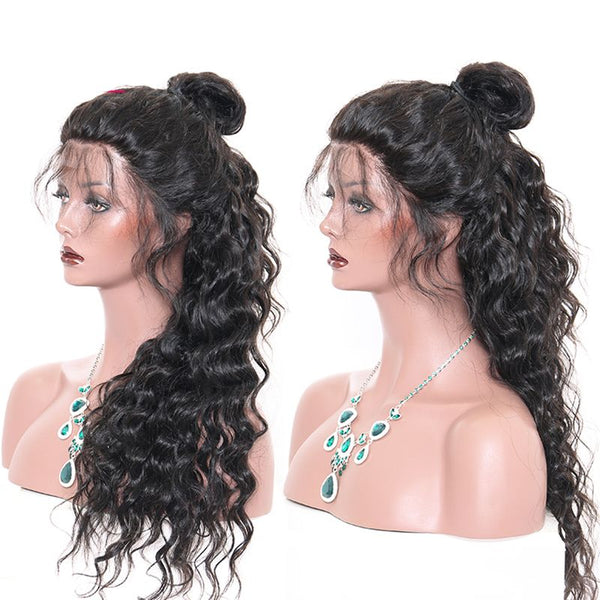 Pre Plucked Loose Wave 360 Lace Frontal Wig5
