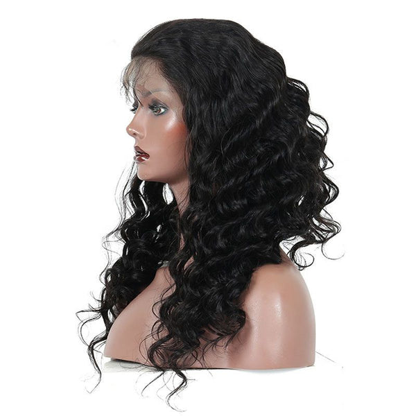 Pre Plucked Loose Wave Full Lace Wig Human Hair5