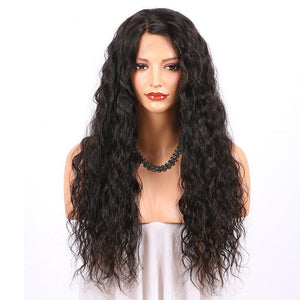 Pre Plucked Natural Wavy Full Lace Wig Human Hair 1