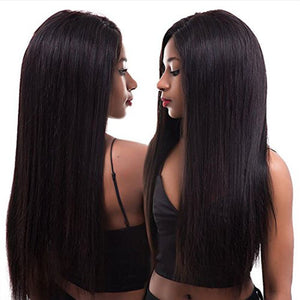 Pre Plucked Silky Straight Full Lace Wig Human Hair 1