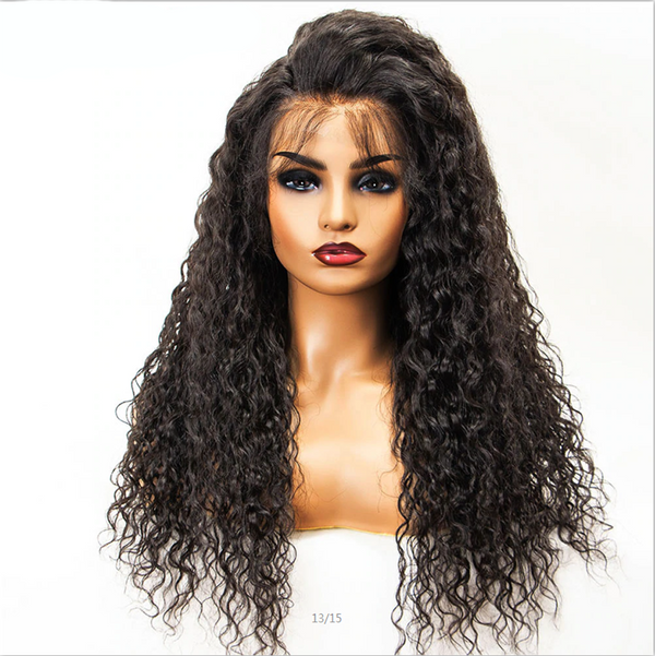 Pre Plucked Water Wavy 360 Lace Frontal Wig2
