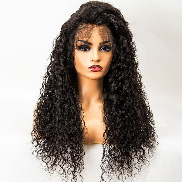 Pre Plucked Water Wavy 360 Lace Frontal Wig3
