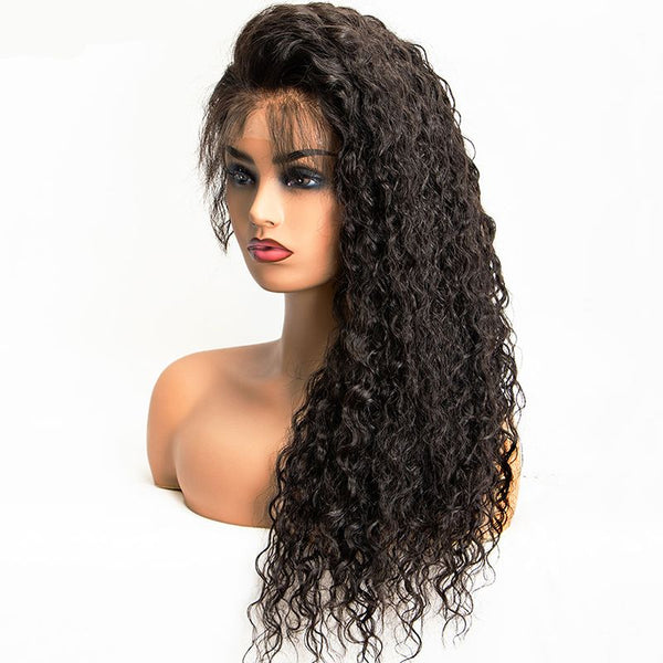 Pre Plucked Water Wavy 360 Lace Frontal Wig4