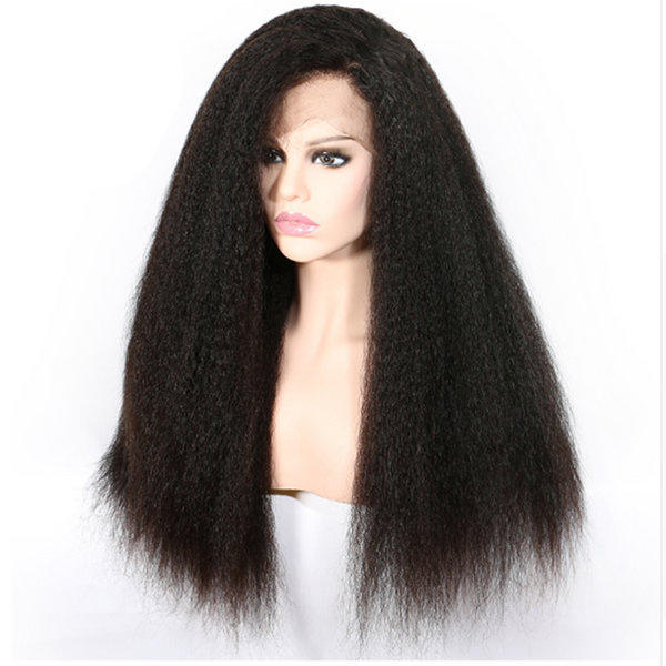 Transparent Lace Kinky Straight 13x4 Lace Front Wig3