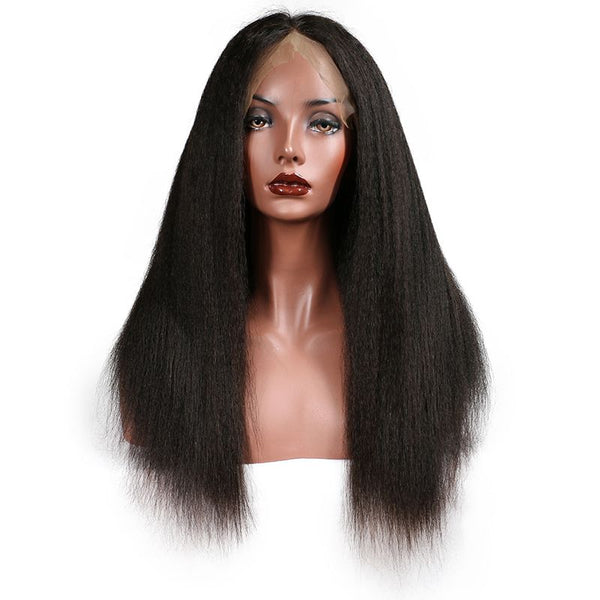 Transparent Lace Kinky Straight 13x4 Lace Front Wig4