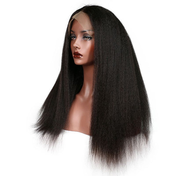 Transparent Lace Kinky Straight 13x4 Lace Front Wig5