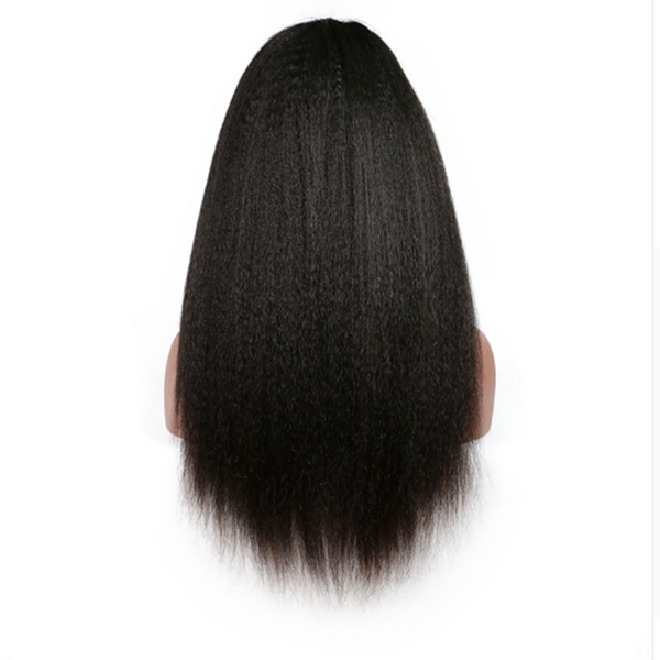 Transparent Lace Kinky Straight 13x4 Lace Front Wig7