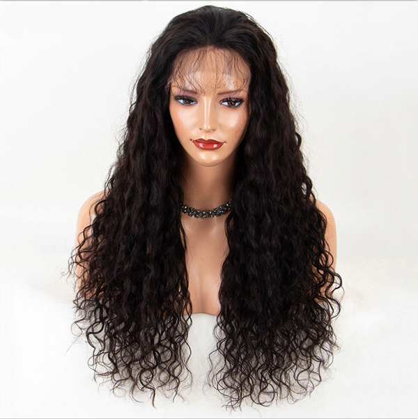 Transparent Lace Loose Curly 13x4 Lace Front Wig2