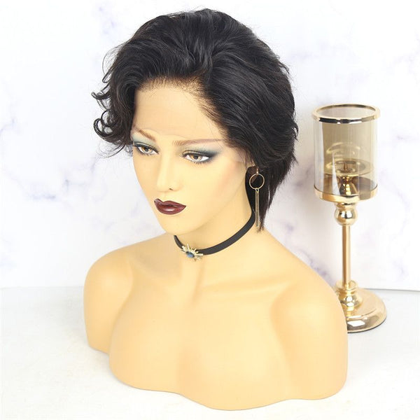 Pre-Styled Pixie Cut Cute Wave BOB Lace Wig OBCT-T2