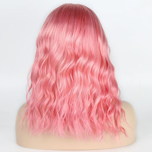 Colored #Pink BOB Body Wave Lace Front Wig Human Hair OBBT-P