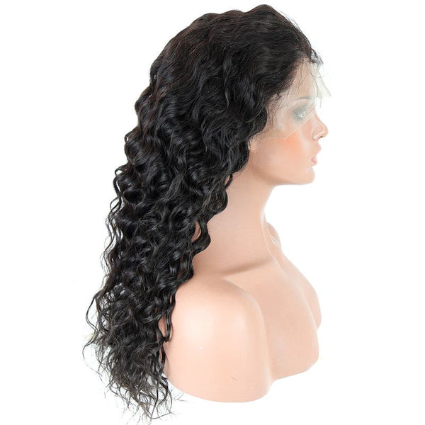 Pre Plucked Loose Deep Wave 360 Lace Frontal Wig BWG-4
