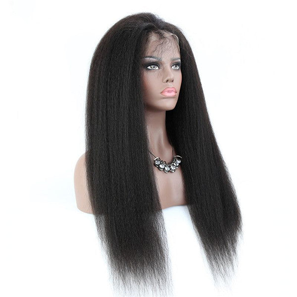 Transparent Lace Kinky Straight 13x6 Lace Front Wig BCEB-1