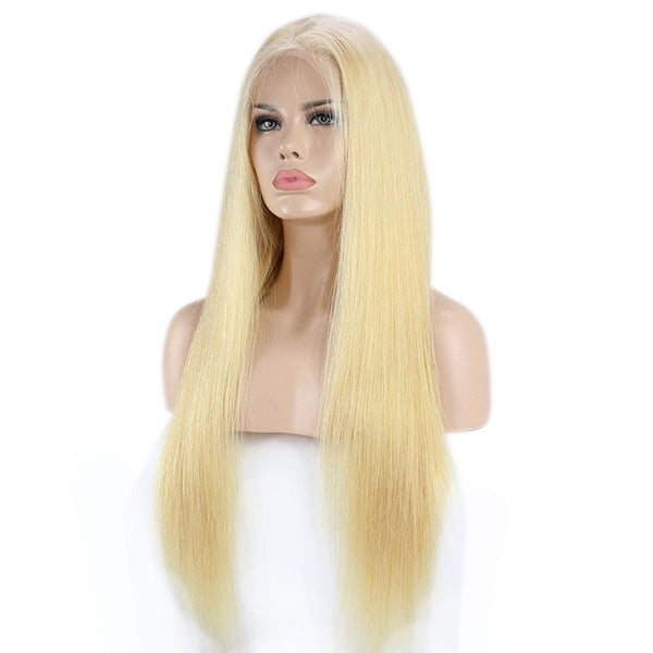 200% Density #613 Blonde Straight 13x4 Lace Front Wig 20MBBST#613