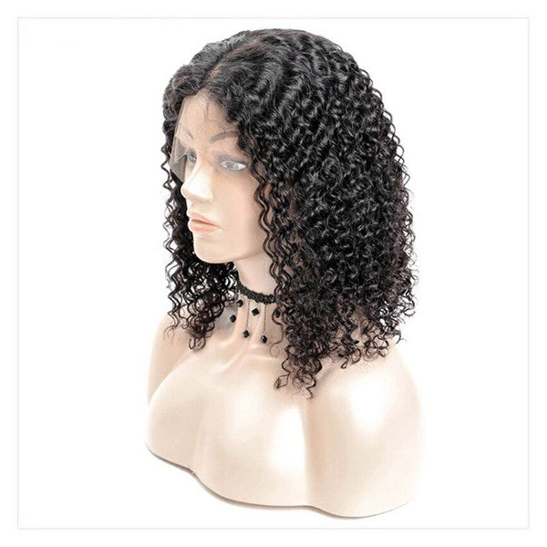 Pre Plucked Water Wave Lace Front BOB Wig OBCF-1