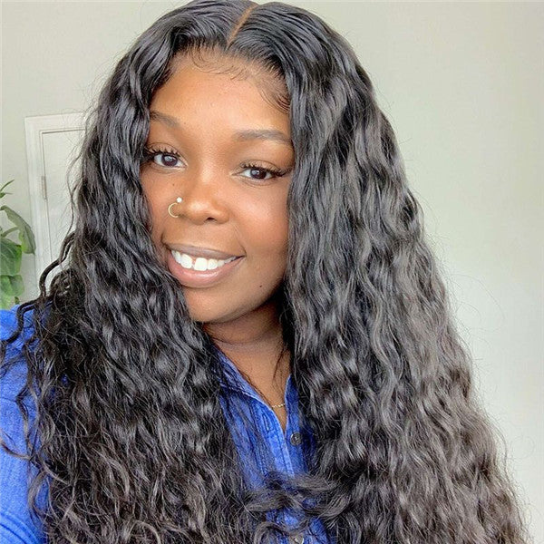 Transparent Lace Loose Water Wave 13x6 Lace Front Wig BCF-1