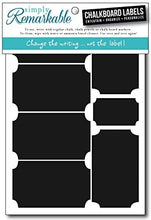 "Load image into Gallery viewer, Reusable Chalk Labels - 12 Ticket Shape 3.25"" x 1.75"" Chalkboard Stickers Wipe Clean and Reuse, Organizing, Decorating, Crafts, Personalized Hostess Gifts, Wedding and Party Favors"