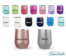 Load image into Gallery viewer, Daddy Is My Superhero - Choose your cup color & create a personalized tumbler for Wine Water Coffee & more! Premier Maars Brand 12oz insulated cup keeps drinks cold or hot Perfect gift