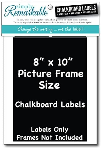 "Picture Frame Size Chalkboard Labels Chalk Stickers (2, 8"" X 10"")"