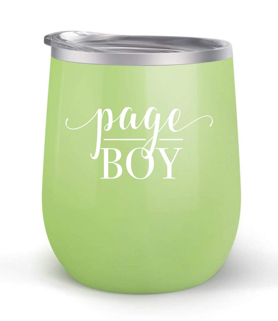 Page Boy - Wedding Gift - Choose your cup color & create a personalized tumbler for Wine Water Coffee & more! Premier Maars Brand 12oz insulated cup keeps drinks cold or hot Perfect gift