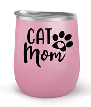 Load image into Gallery viewer, Cat Mom - Choose your cup color & create a personalized tumbler good for wine water coffee & more! Maars Brand 12oz insulated cup keeps drinks cold or hot Perfect gift
