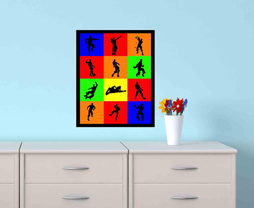 "Gaming Dances Wall Art Print. Name That Dance with This Video Game Poster Boneless, Hype, Make It Rain, Take The L and More (8"" x 10"")"