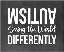 Load image into Gallery viewer, Autism Seeing The World Differently - Autism Poster Print Autistic Spectrum Motivational Decor Autism Awareness (8x10, Differently)