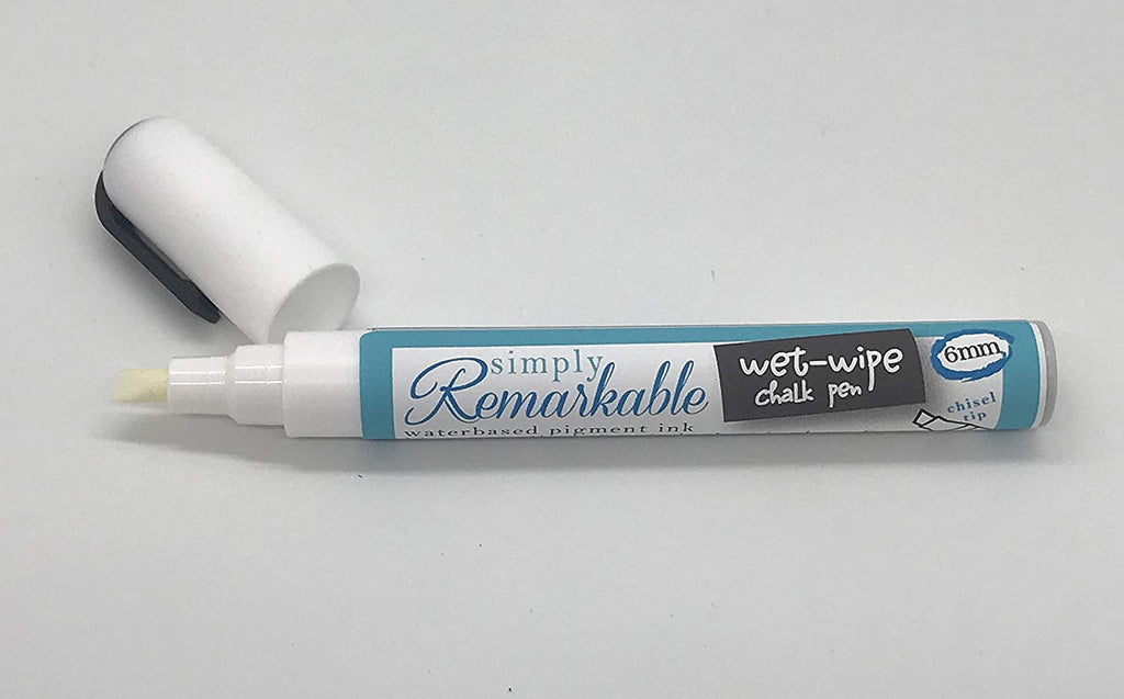 Versatile 6mm Wet Wipe Chalk Pen - Chisel Tip Chalk In Chark Marker