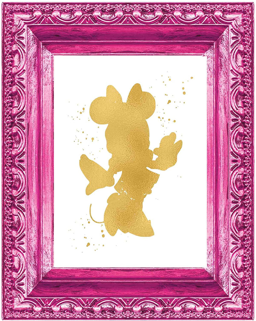 Minnie Mouse Inspired - Poster Print Photo Quality - Made in USA - Disney Inspired - Home Art Print - Frame not Included (11x14, Gold)