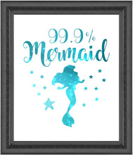 Load image into Gallery viewer, 99% Mermaid Print Photo Quality - Made in USA - Under The sea - Mermaid Tale Inspired - Home Art Print -Frame not Included (8x10, White 99%)