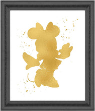 Load image into Gallery viewer, Minnie Mouse Inspired - Poster Print Photo Quality - Made in USA - Disney Inspired - Home Art Print - Frame not Included (11x14, Gold)