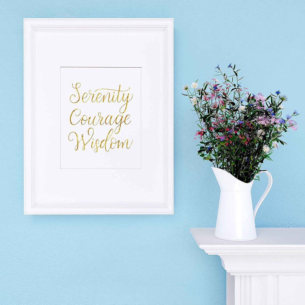 Serenity Courage Wisdom Poster Print Photo Quality - Inspirational Wall Art for Alcoholics Anonymous, AA, Narcotics Anonymous, NA - Made in USA (16x20, Water Color)