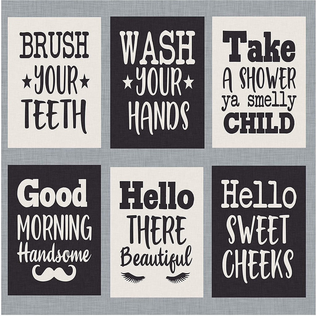 "Bathroom Prints - Set of six - Decorate Your Bathroom with These 5"" x 7"" Prints. Funny and Humorous Bathroom and Home Decor (5"" x 7"", Set 1)"