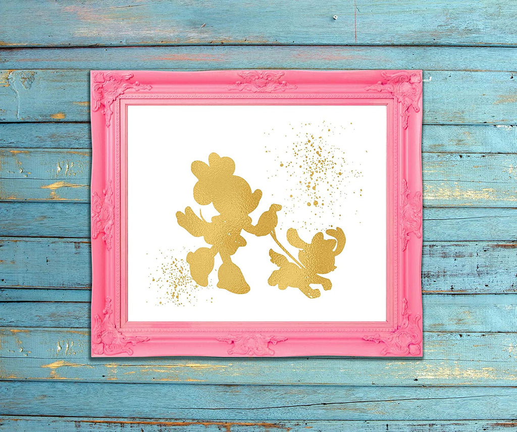 Minnie Mouse Inspired - Poster Print Photo Quality - Made in USA - Disney Inspired - Home Art Print - Frame not Included (8x10, MinniePluto)