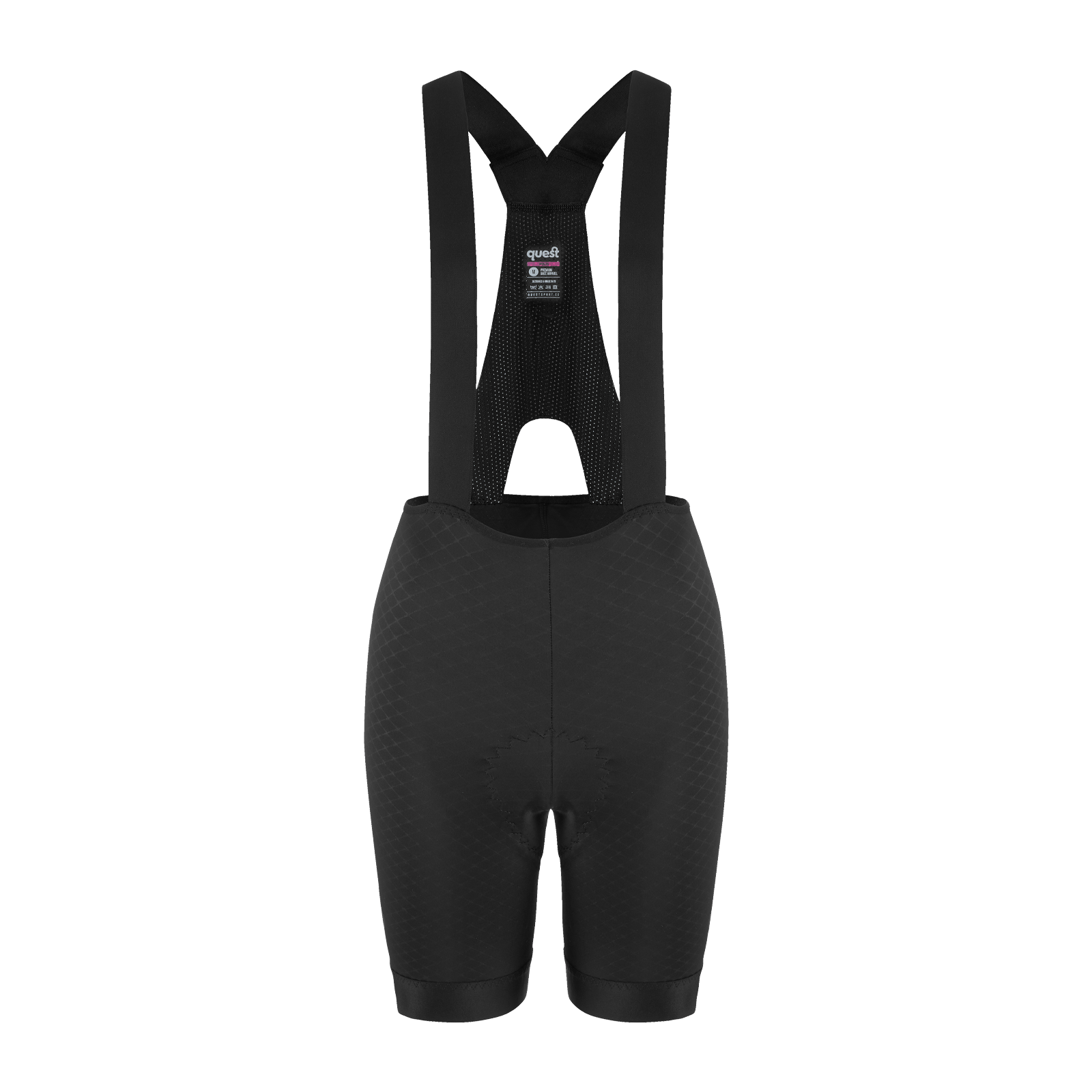 Women's Adventure Bib Shorts - Black - questsport.shop