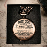 TO MY SON - LOVE MOM POCKET WATCH