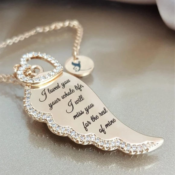 I'll Miss You Forever-Angel Wing Necklace