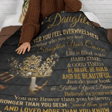 TO MY DAUGHTER - ALWAYS WATCHING YOU BLANKET