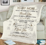 TO MY MOM-LOVE DAUGHTER BLANKET