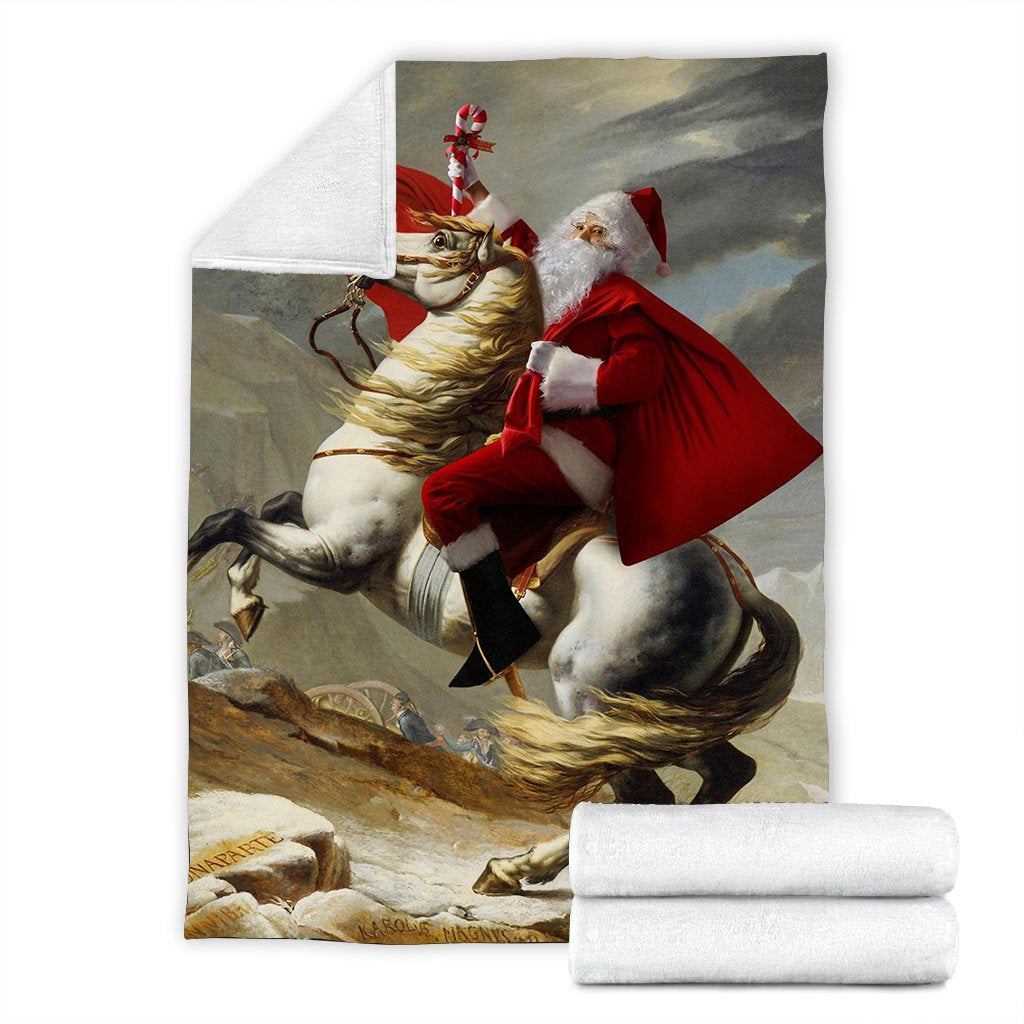 "Santa Claus Crossing the Alps Blanket 80"" x 60"""