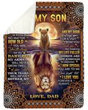 TO MY SON-LION BLANKET