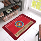 Proud Military Family USMC Doormat