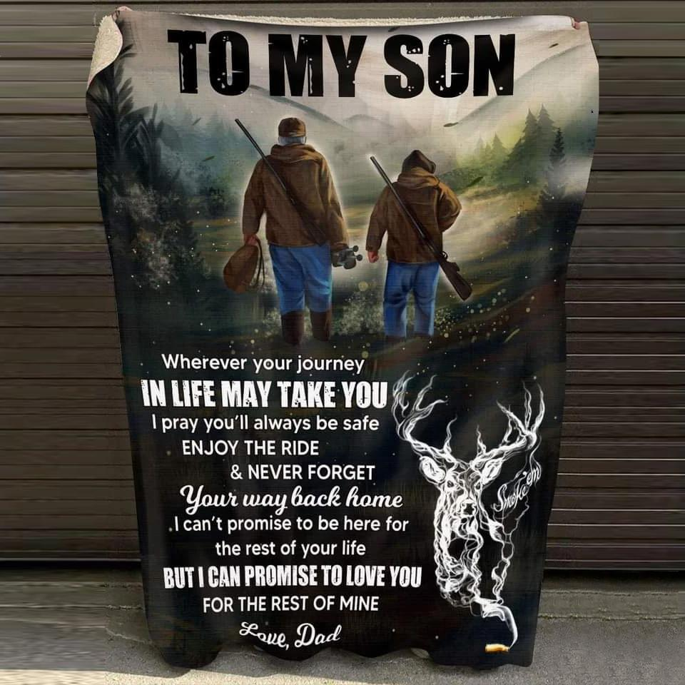 To My Son - Hunting Partners Blanket