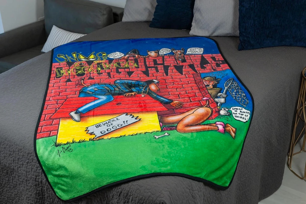 Snoop Dogg Doggystyle Album Cover Large Fleece Throw Blanket