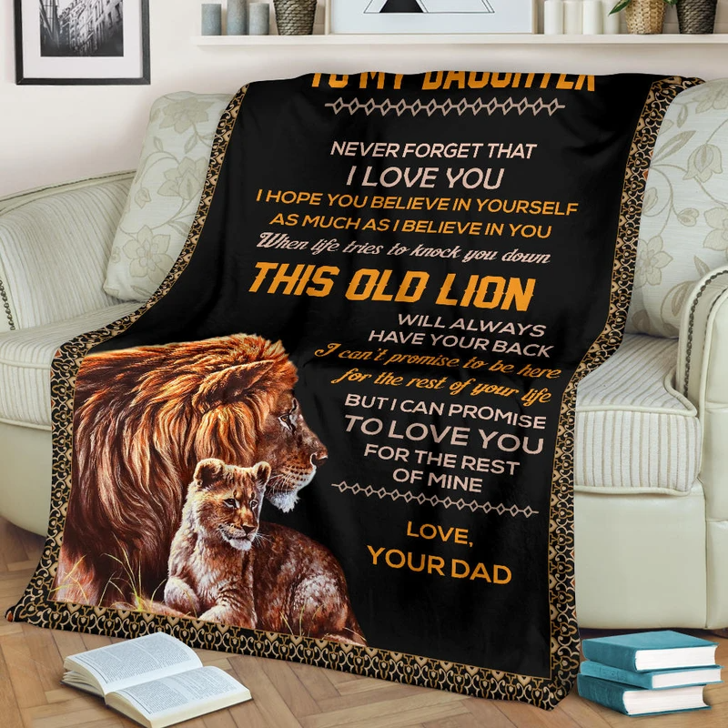 TO MY DAUGHTER - LOVE DAD BLANKET
