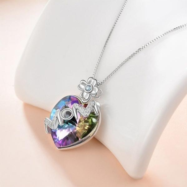Love Heart Pendant Necklaces for Women Girl