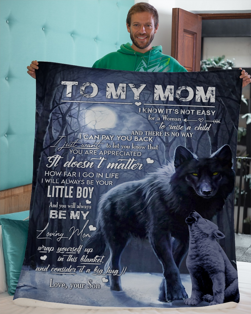 TO MY MOM - LOVE SON BLANKET #1