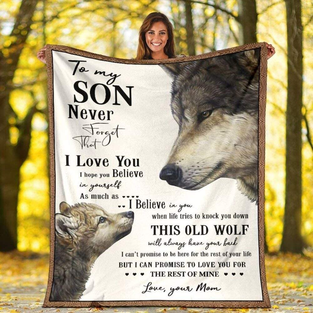TO MY SON-WOLF BLANKET
