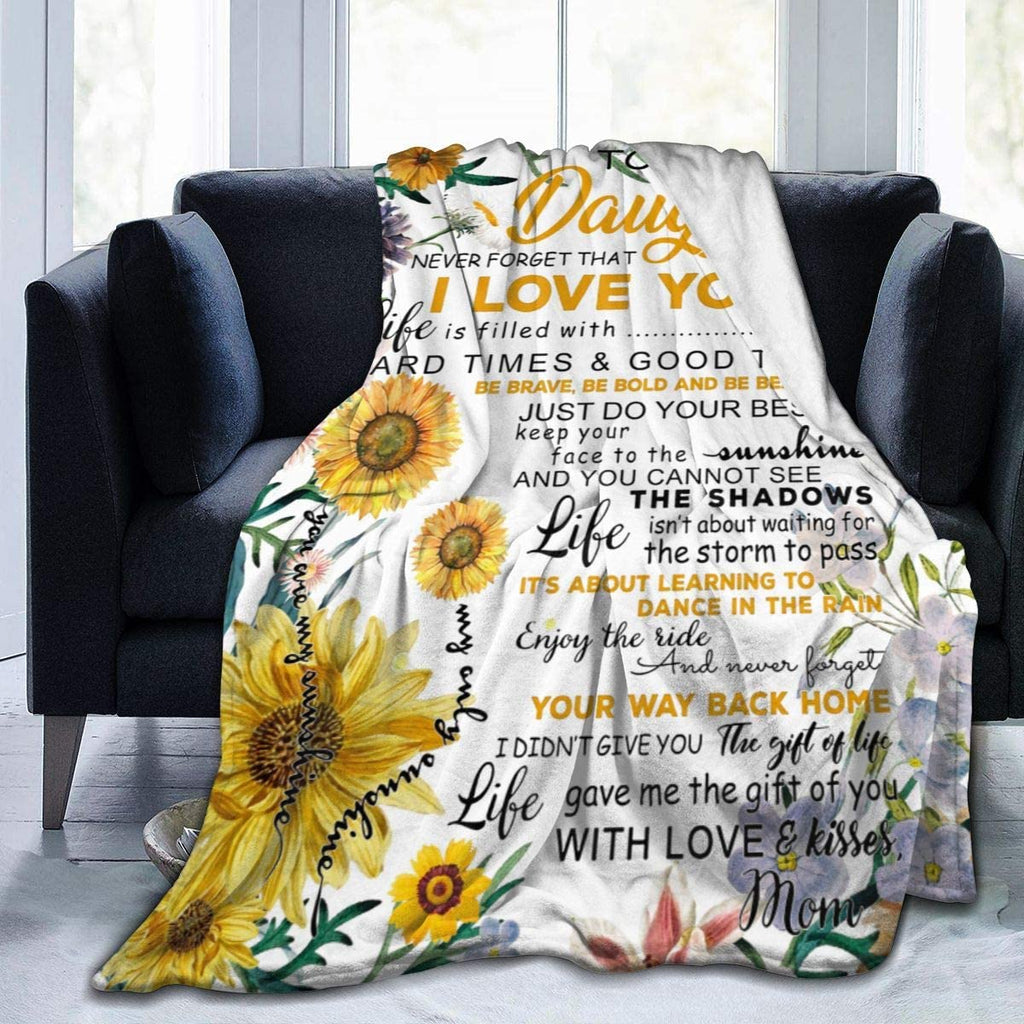 To My Daughter Blanket-Sunflower Love Letter